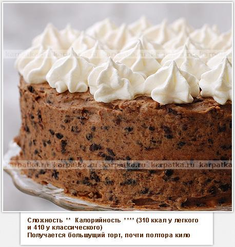 как приготовить черносливовый торт