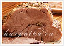 разрезанное мясо