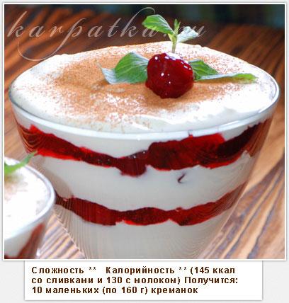 Творожный десерт со сливками и желатином рецепт